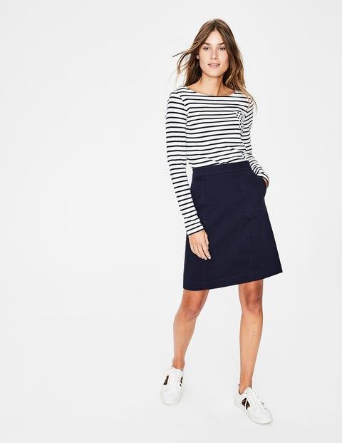 Helena Chino Skirt - Navy