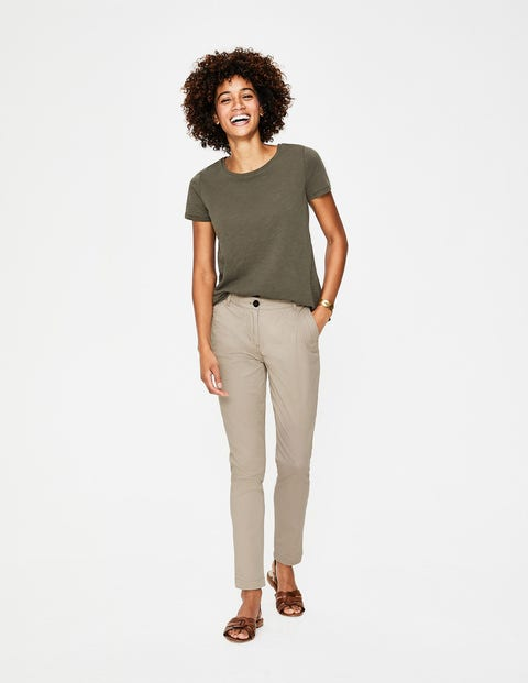 Helena Chino Pants - Soft Stone