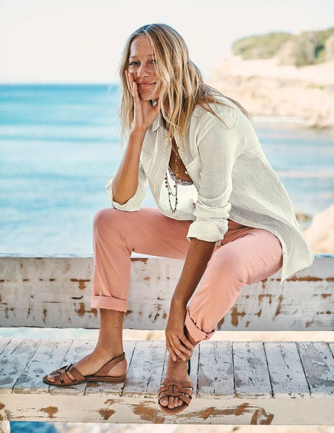 Helena Chino Trousers - Chalky Pink