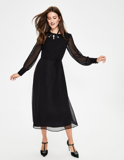 Alba Midi Dress - Black