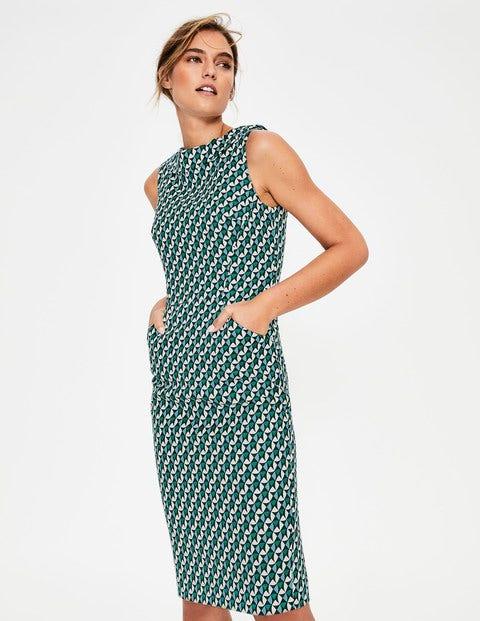 Martha Kleid mit Ziernaht Navy Damen Boden, Navy