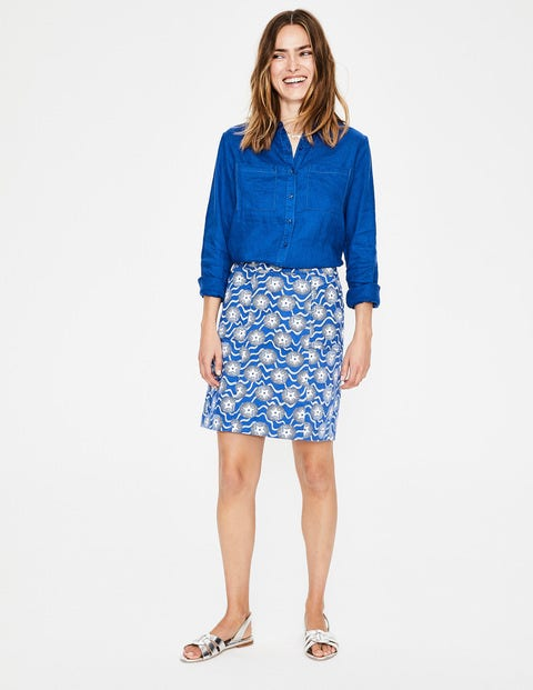 Leinenhemd - Kobaltblau