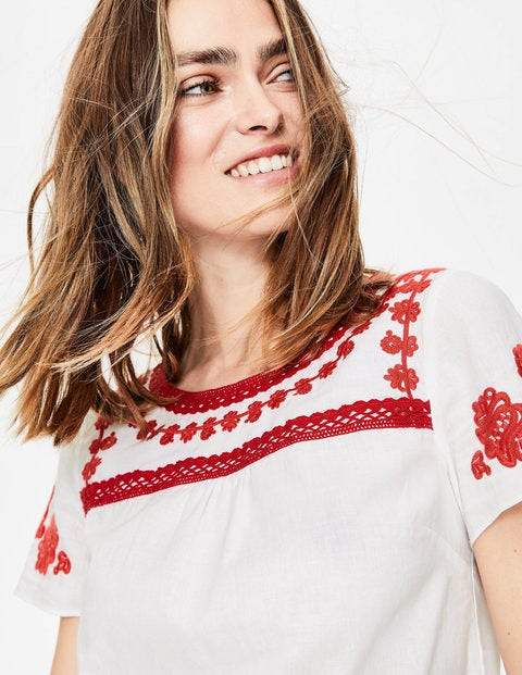 Fiona Embroidered Top