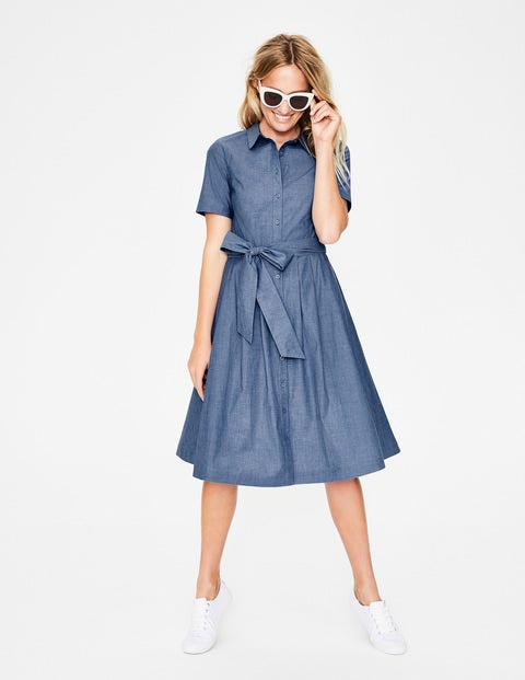 Anastasia Shirt Dress - Light Chambray