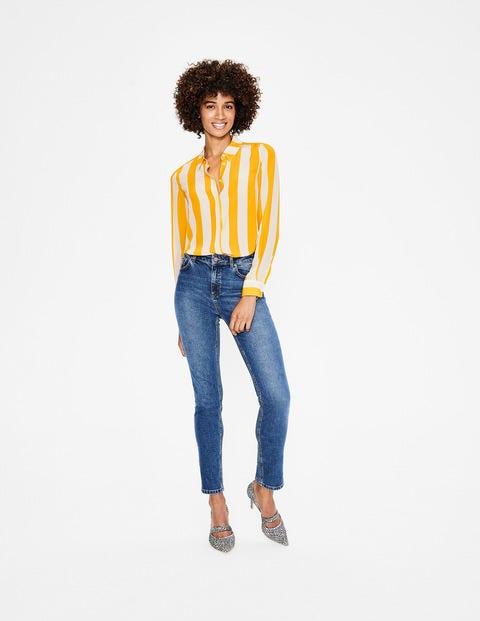 Das Seidenhemd Yellow Damen Boden, Yellow