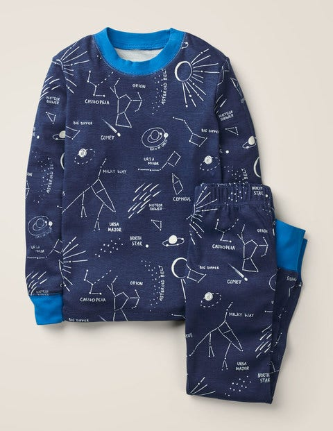 Glow-In-The-Dark Pyjamas - College Blue Star Gazing