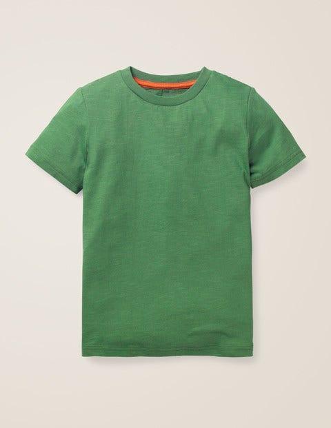 Vorgewaschenes T-Shirt aus Flammgarn - Rosmaringrün
