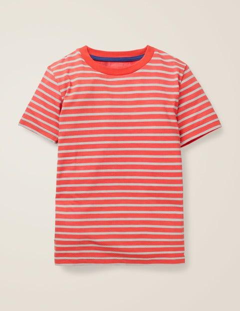 Slub Washed T-Shirt - Beam Red/Ocean Scene Blue