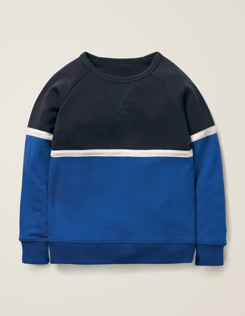 Sporty Sweatshirt - College Blue/Duke Blue