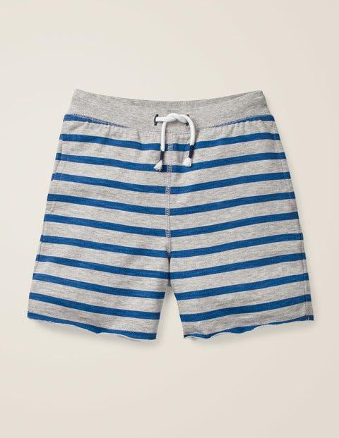 Slub Jersey Shorts - Grey Marl/College Blue