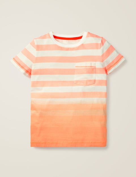 Dip-Dye T-Shirt - White/Neon Orange