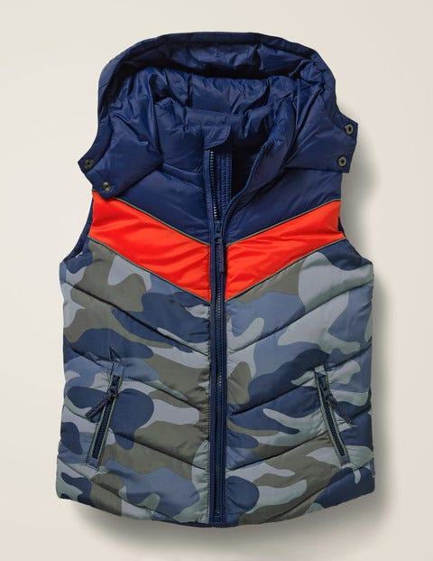 Shower Resistant Gilet - College Blue/Camouflage