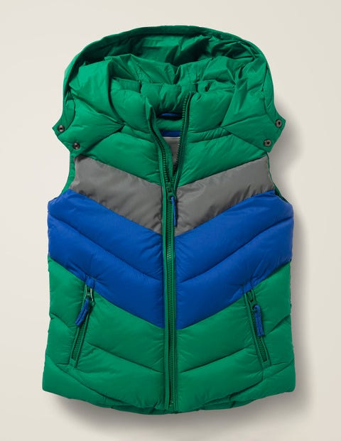 Shower Resistant Gilet - Hike Green/Reflective