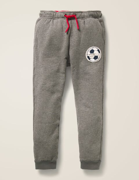 Football Detail Joggers - Dark Grey Marl Football