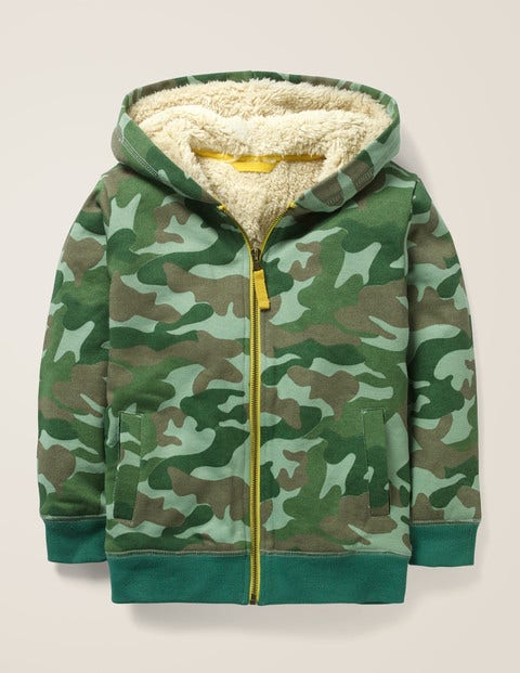 Shaggy-lined Zip-up Hoodie