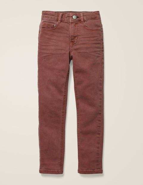 Coloured Skinny Jeans - Rose Brown