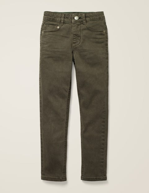 Coloured Skinny Jeans - Khaki Green