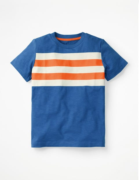 Slub Washed T-Shirt - Duke Blue/Acid Orange