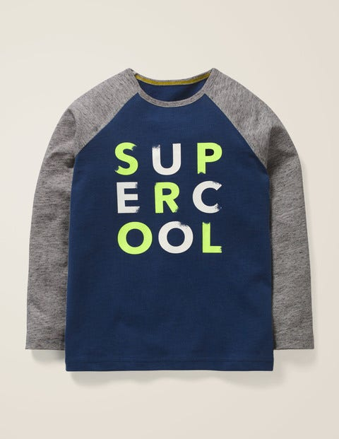 Slogan Raglan T-Shirt - College Blue Super Cool