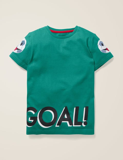 Sporty Emoji T-Shirt - Hike Green Football
