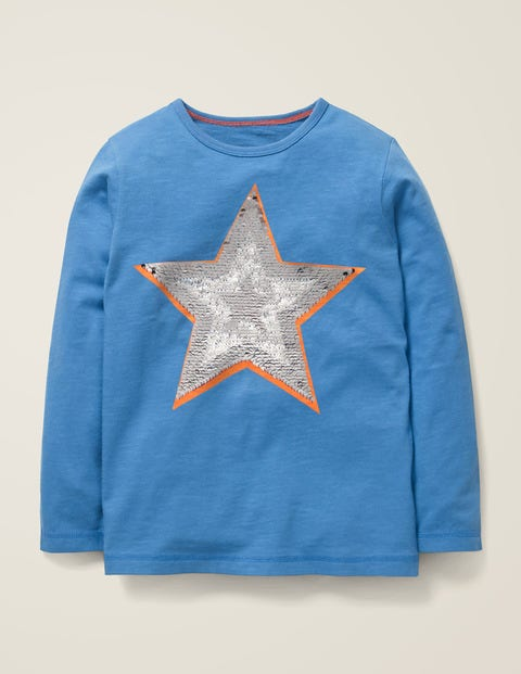Sequin Colour Change T-Shirt - Elizabethan Blue Star