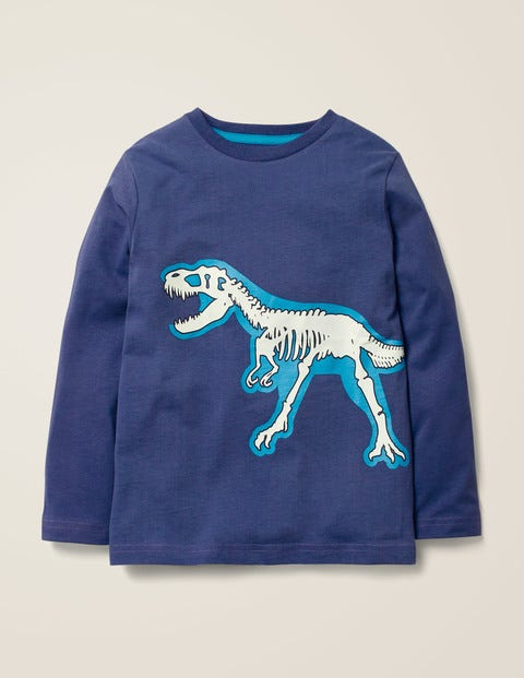 Glow-In-The-Dark Bones T-Shirt - Starboard Blue T-Rex