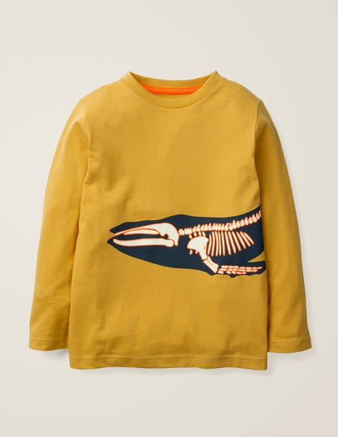 Glow-In-The-Dark Bones T-Shirt - Mellow Yellow Whale