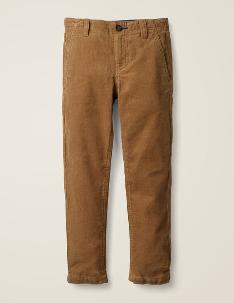 Relaxed Cord Chino Trousers - Rustic Brown