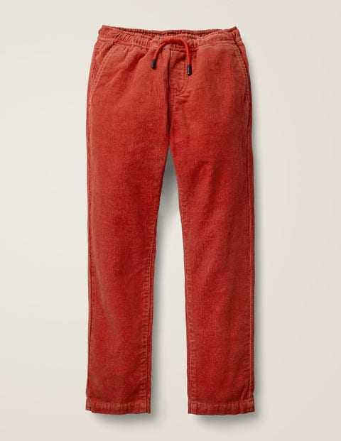 Relaxed Slim Pull-On Trousers - Spark Red Cord