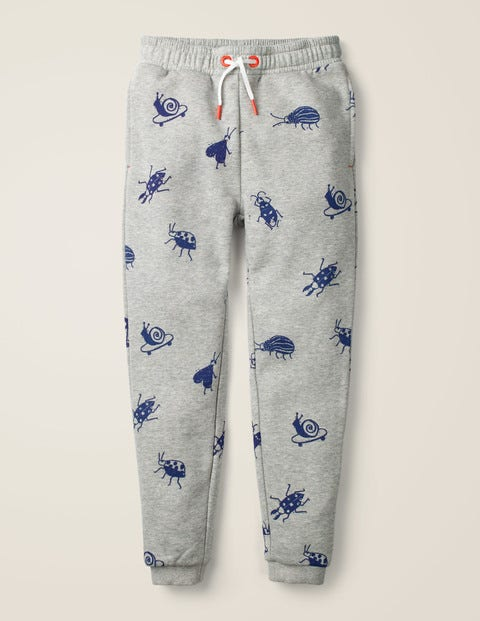 Relaxed Printed Joggers - Grey Marl Skate Bugs