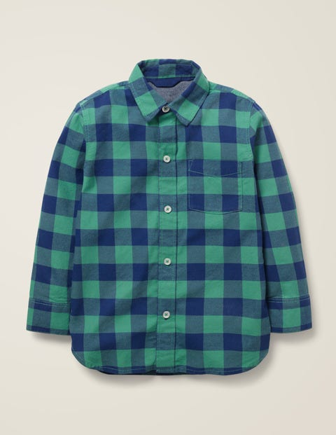 Casual Twill Shirt - Starboard Blue/Asparagus Green