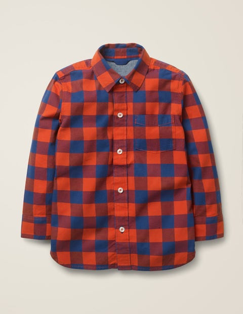 Casual Twill Shirt - Rocket Red/Starboard Blue