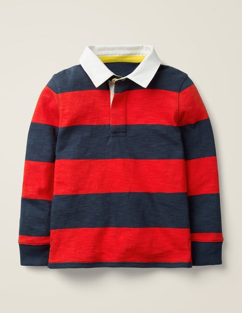 Rugby Shirt - Stormy Blue/Rocket Red