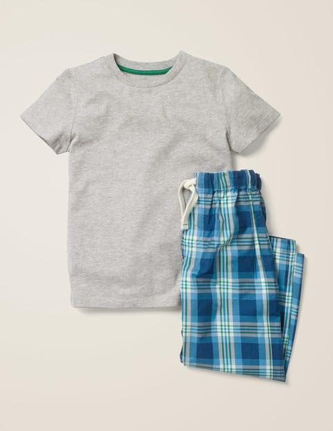 Schlafanzug-Set - Dunkelblau/Sattes Grün