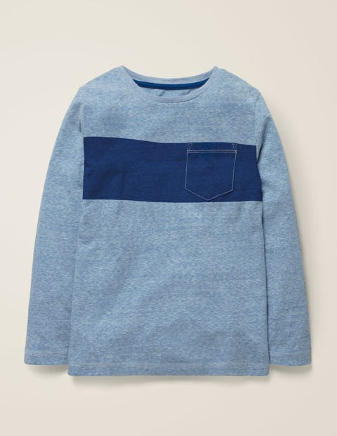 Bold Stripe T-Shirt - Blue Marl/Heron Blue