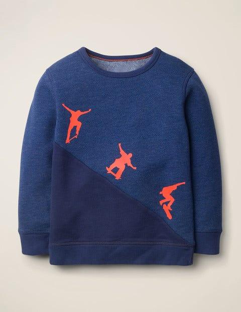 Skater Sweatshirt - Deep Blue Marl Skateboarders
