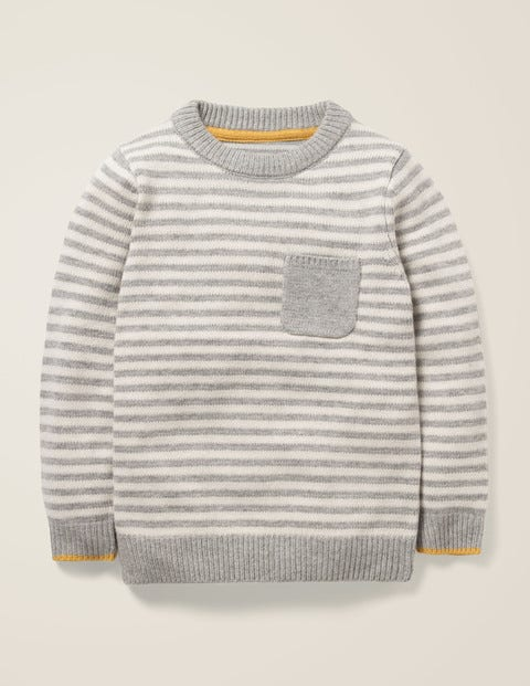 Essential Crew Sweater - Grey Marl/Ivory
