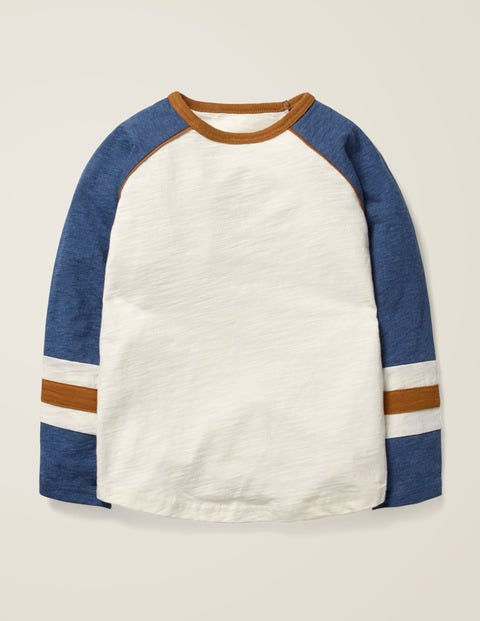 Raglan T-Shirt - Ecru/Blue Marl