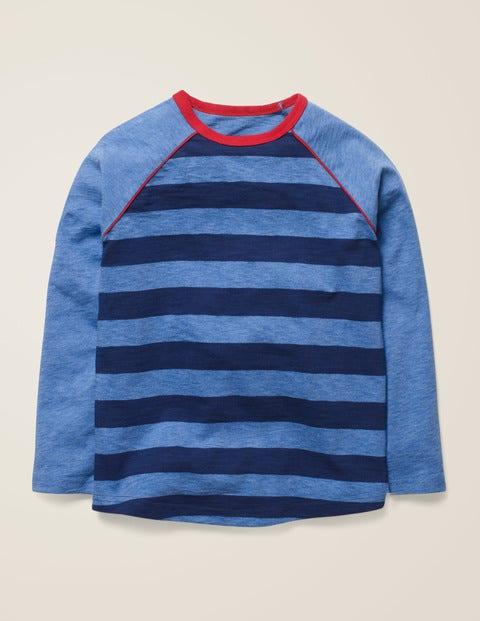Raglan T-Shirt - College Blue/Blue Marl