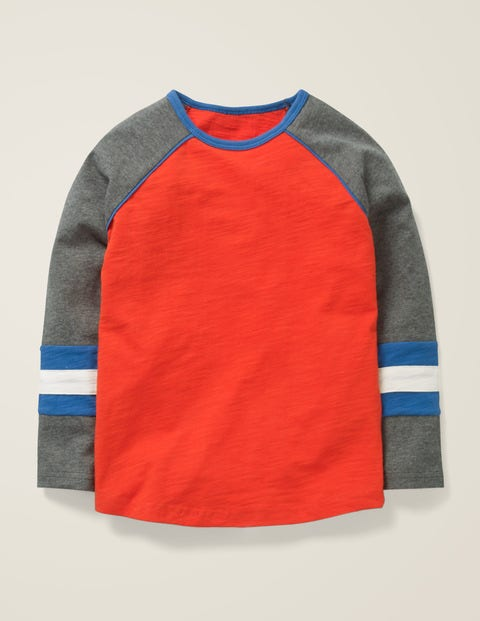 Raglan T-Shirt - Rocket Red/Grey Jaspe