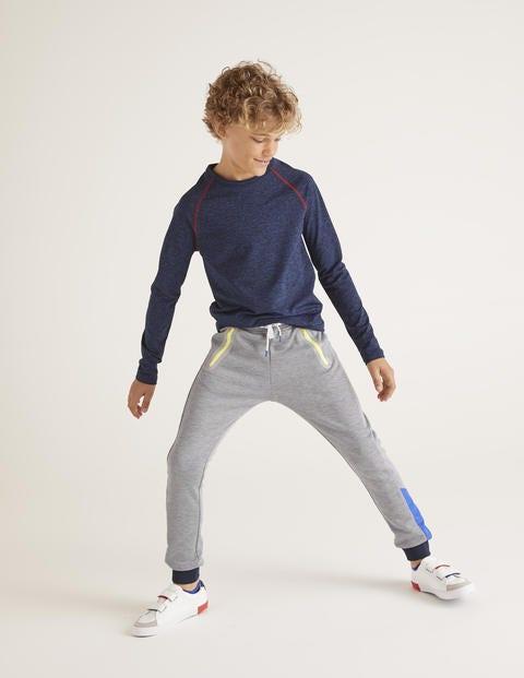 Active Sweatpants - Grey Marl/Heron Blue