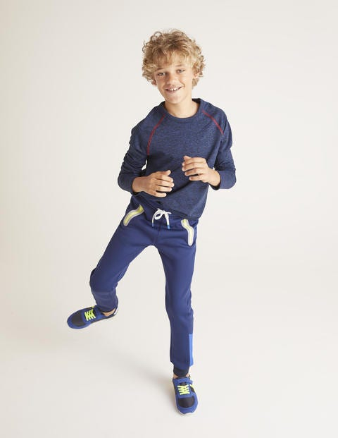 Active Sweatpants - Navy Blue/Safety Yellow