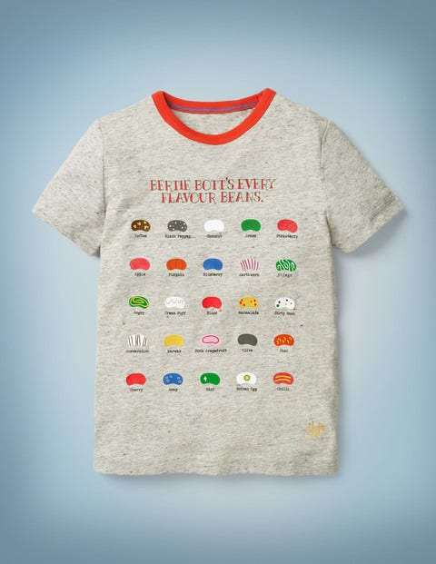 T-Shirt Mit Bertie-Botts-Motiv - Grau Meliert