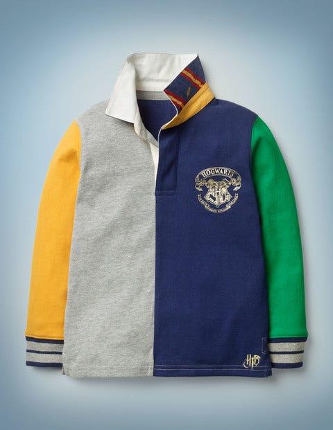 Hogwarts Rugby Shirt - Mid Grey Jaspé Hotchpotch