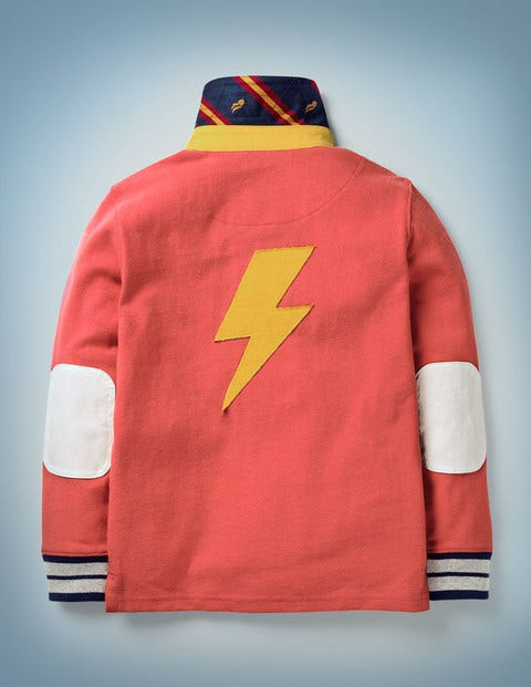 Hogwarts Rugby Shirt - Rockabilly Red