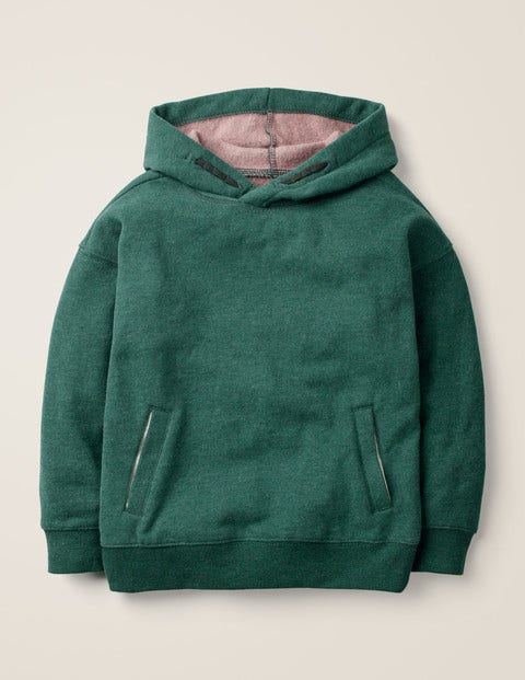 Drop Shoulder Hoodie - Emerald Night Green Marl