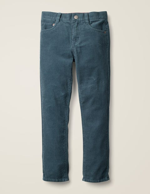 Slim Cord Jeans - Petrol Blue Cord
