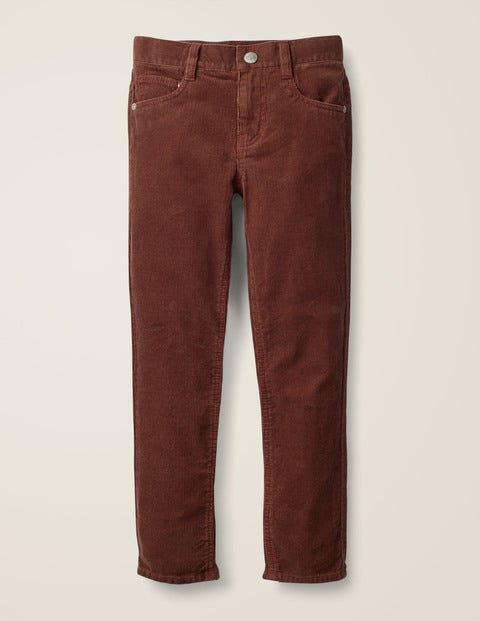 Slim Cord Jeans - Copper Brown Cord