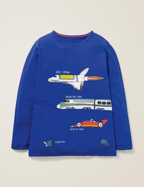 Speedy-T-Shirt - Fischreiherblau, Fahrzeuge