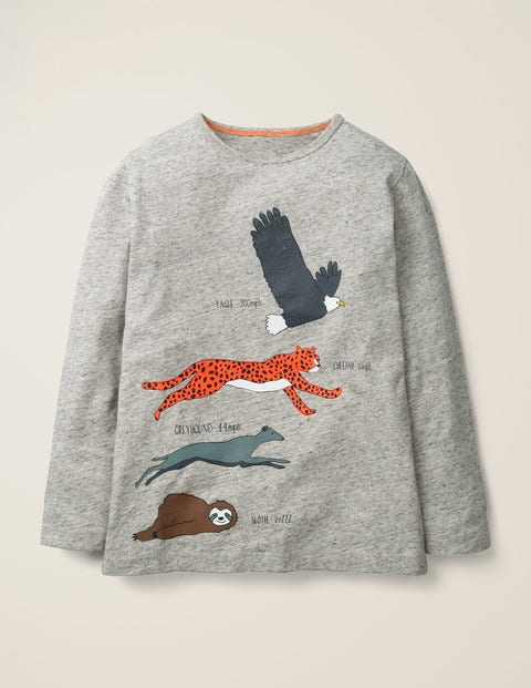 Speedy T-Shirt - Grey Marl Animals